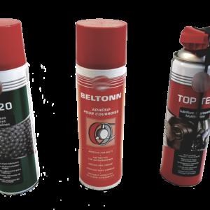 Lubrificantes para a indústria em spray, massa e óleos.